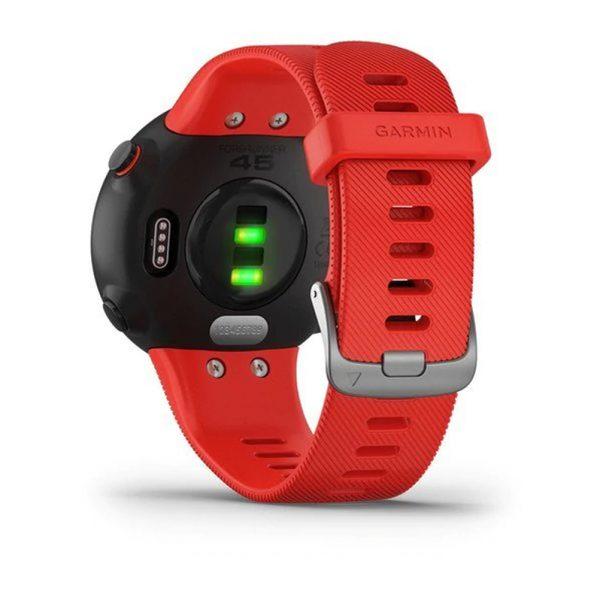Garmin Forerunner 45 HRM Running Watch lava red back