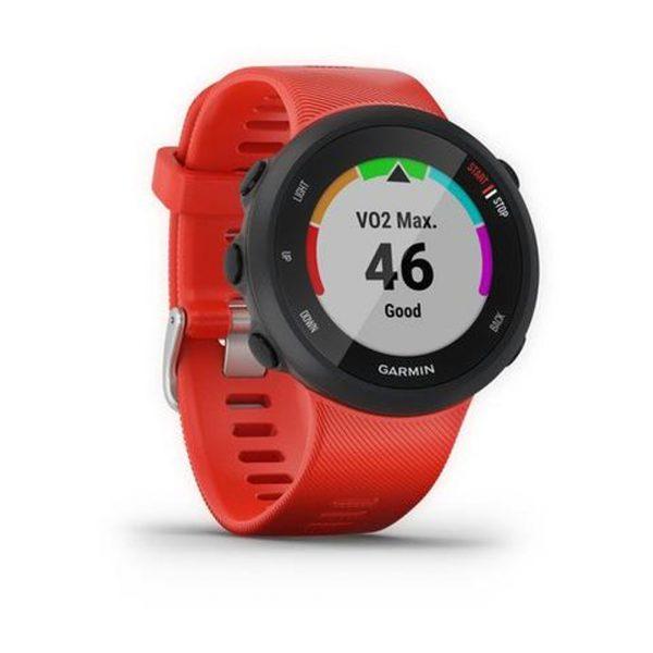 Garmin Forerunner 45 HRM Running Watch lava red side