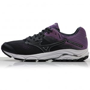 Mizuno Wave Inspire 15 Women's Running Shoe - Black/Purple/White front