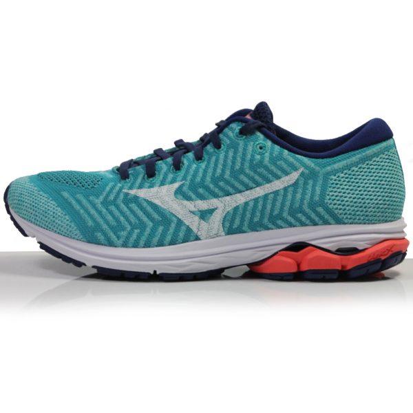 Mizuno Waveknit R2 Women's Running Shoe - Pblue/White/Hot Coral side