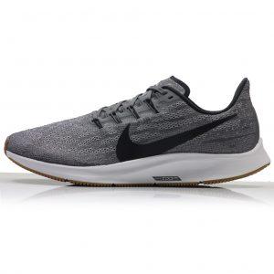 Nike Air Zoom Pegasus 36 Men's Running Shoe - Gunsmoke/White/Gum Light Brown/Oil Grey side