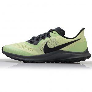 Nike Air Zoom Pegasus 36 Men's Trail Running Shoe - Luminous Green/Black/Lab Green/Burgundy Ash side