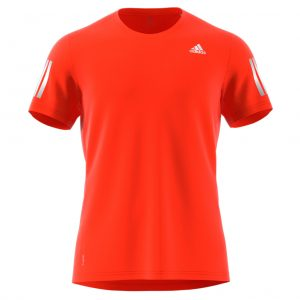 adidas Own The Run Short Sleeve mens orange front
