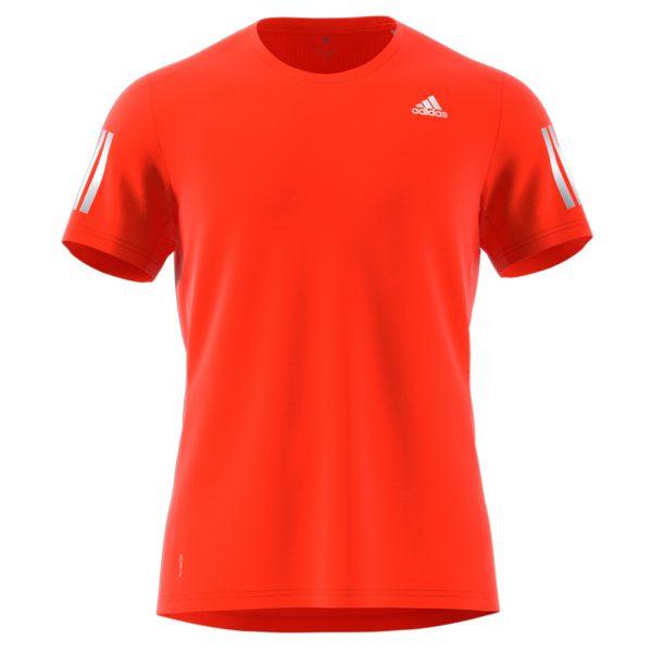 adidas Own The Run Short Sleeve mens orange front