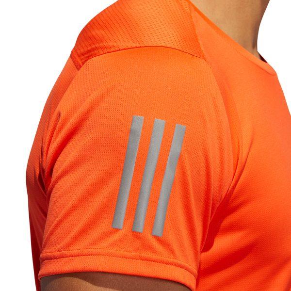 adidas Own The Run Short Sleeve mens orange detail