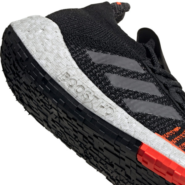 adidas Pulseboost HD Men's Running Shoe -Core Black/Grey Five/Solar Red boost