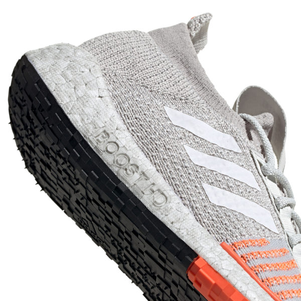 adidas Pulseboost HD Women's Running Shoe -Grey/White/Hi-Res Coral side shot