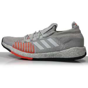 adidas Pulseboost HD Women's Running Shoe -Grey/White/Hi-Res Coral Sole