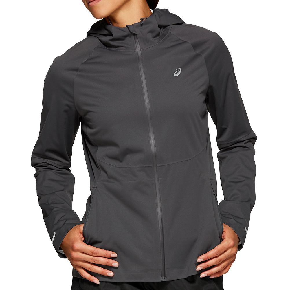 Asics Accelerate Women's Running Jacket - Graphite Grey