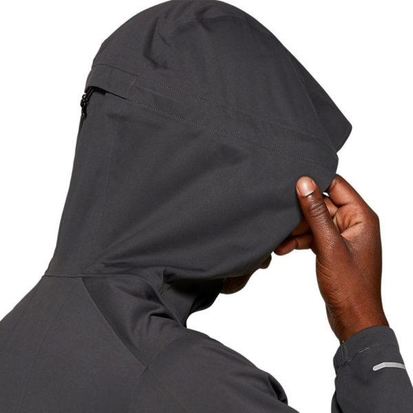 Asics Accelerate Men's Running Jacket Hood Close up