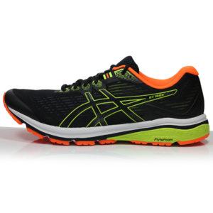 Asics GT-1000 v8 Men's Running Shoe - Black/Safety Yellow side