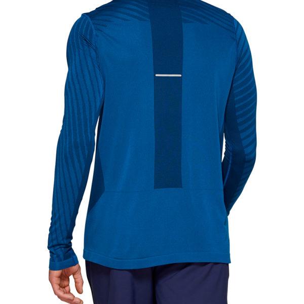 Asics Seamless Texture Long Sleeve Men's Running Top Back