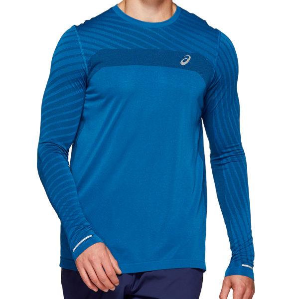 Asics Seamless Texture Long Sleeve Men's Running Top Front