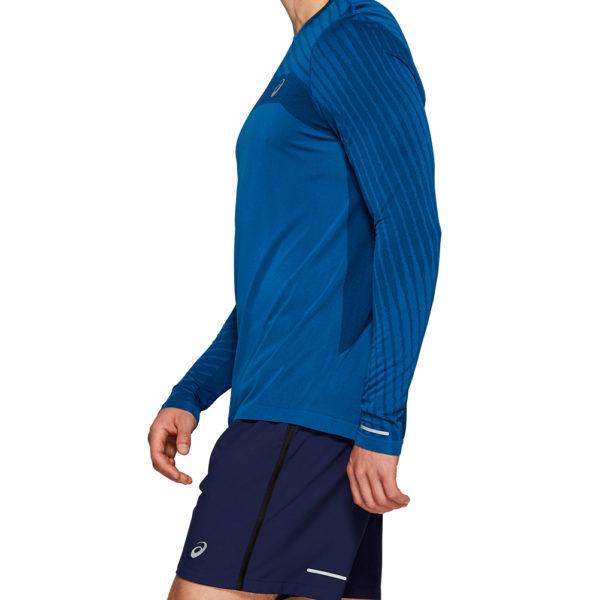 Asics Seamless Texture Long Sleeve Men's Running Top Side
