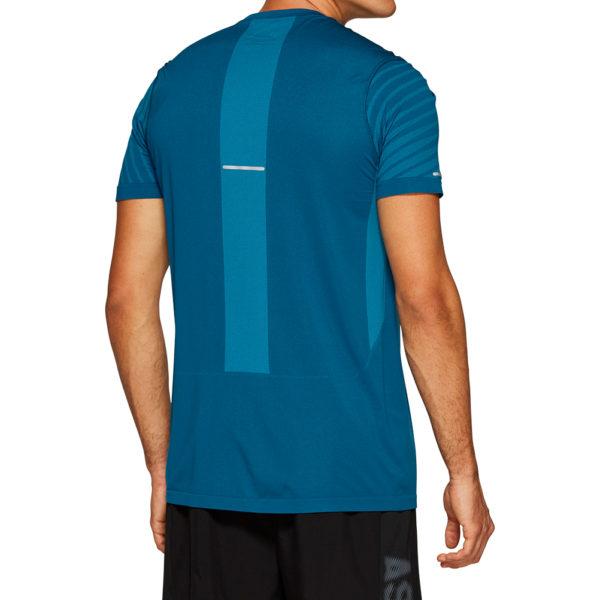 Asics Seamless Texture Short Sleeve Men's Running Top Back