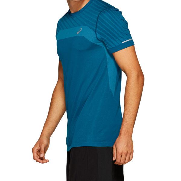 Asics Seamless Texture Short Sleeve Men's Running Top Side