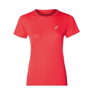 Asics Silver Short Sleeve Women's tee pink front