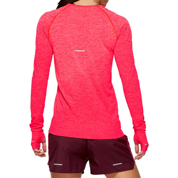 Asics Seamless Texture Long Sleeve Women's laser pink back