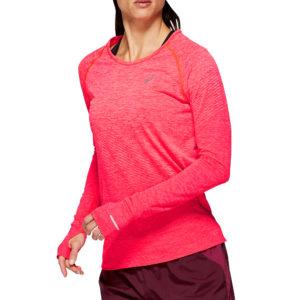 Asics Seamless Texture Long Sleeve Women's laser pink front