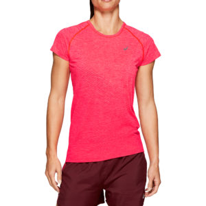 Asics Seamless Texture Short Sleeve Women's Running Top Front