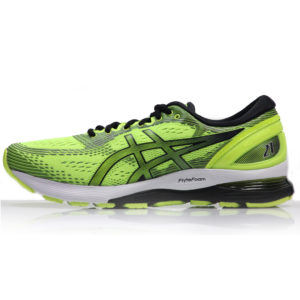 Asics Gel Nimbus 21 Men's Running Shoe - Safety Yellow/Black Side