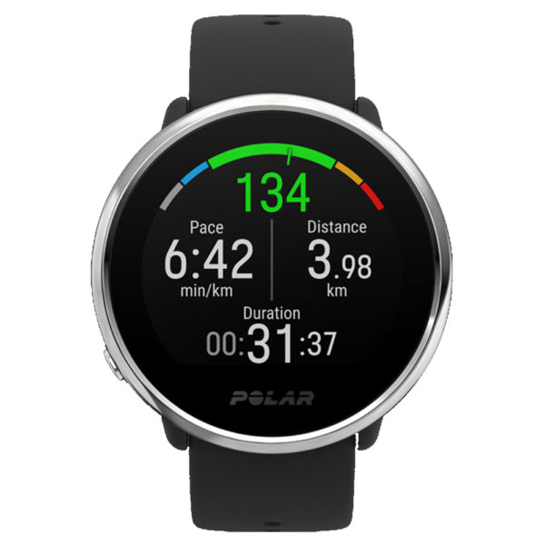 Polar Ignite GPS Running Watch Black Front View