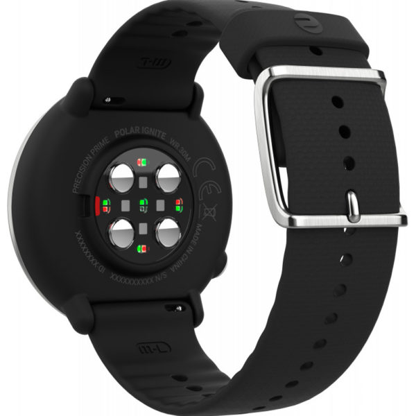 Polar Ignite GPS Running Watch Black Back View
