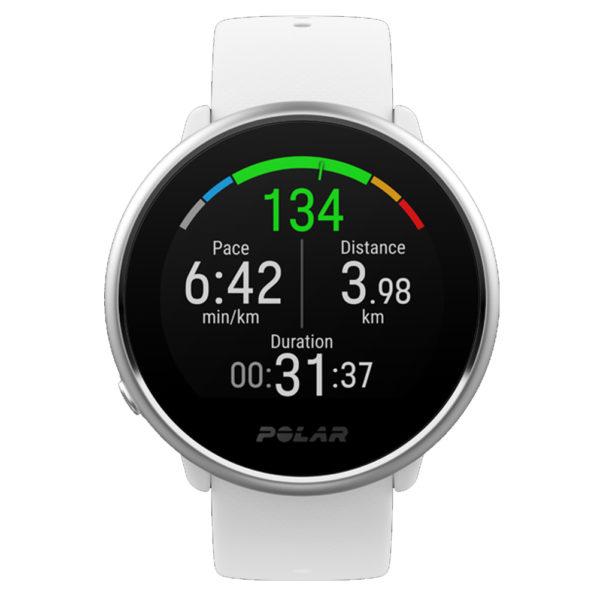 Polar GPS Running Watch Ignite White Front View