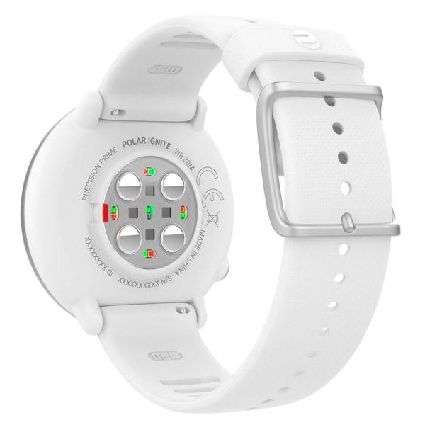 Polar GPS Running Watch Ignite White Back View