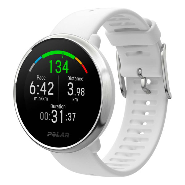 Polar GPS Running Watch Ignite White Side View