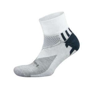 balega enduro running sock white black grey