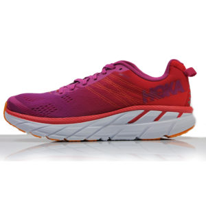 Hoka One One Clifton 6 Women's poppy red side