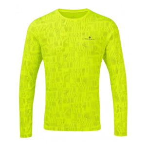 Ronhill Momentum Afterlight Long Sleeve fluo yellow front