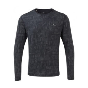 Ronhill Momentum Afterlight Long Sleeve charcoal front