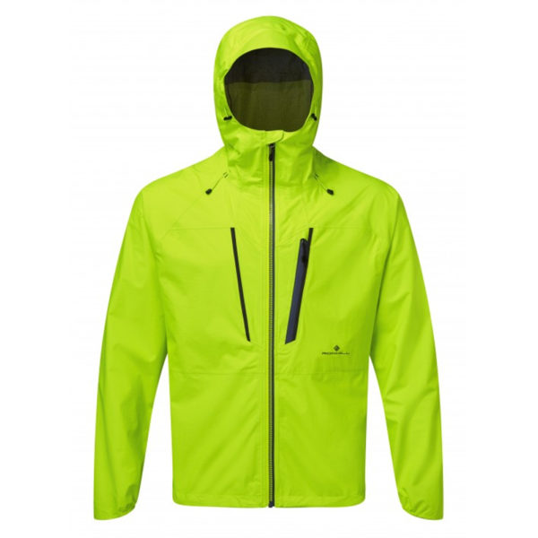 Ronhill Infinity Fortify Men's Running Jacket - Fluo Yellow Front