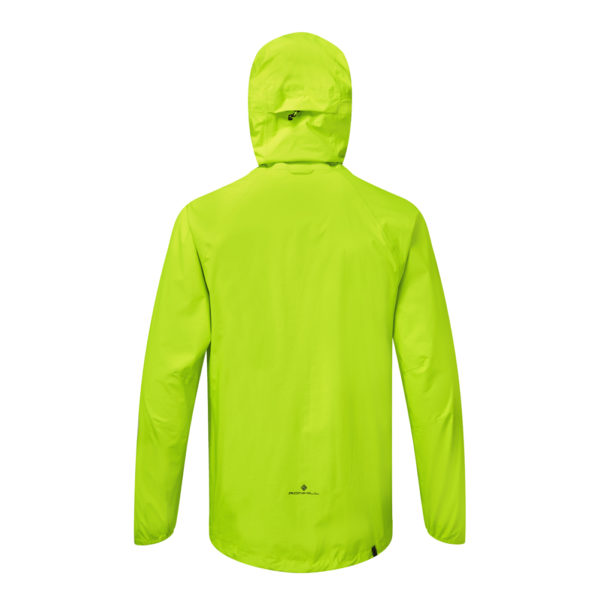 Ronhill Infinity Fortify Men's Running Jacket - Fluo Yellow Back