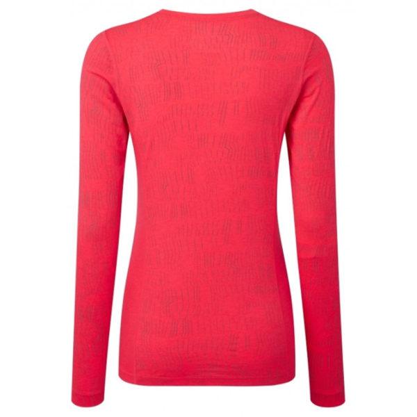 Ronhill Momentum Afterlight Long Sleeve Women's Running Tee Pink Back