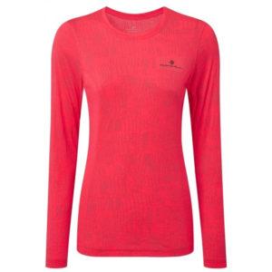 Ronhill Momentum Afterlight Long Sleeve Women's Running Tee Pink Front