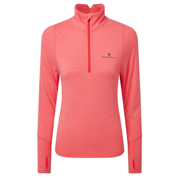 Ronhill Stride Thermal Halfzip Long Sleeve Front