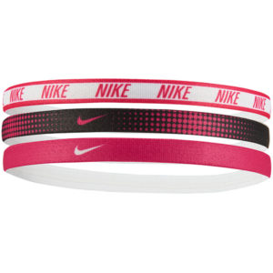 Nike Printed Headbands Assorted 3 Pack white black pink