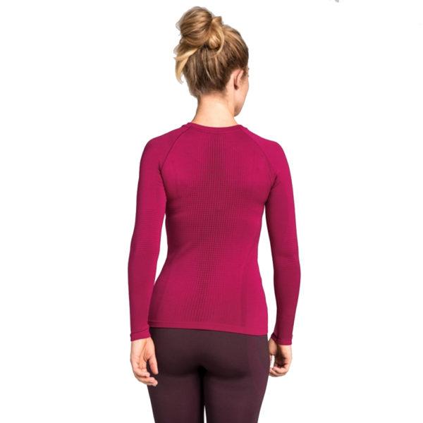 Odlo SUW Performance Crew Warm Women's Long Sleeve Top Front Back