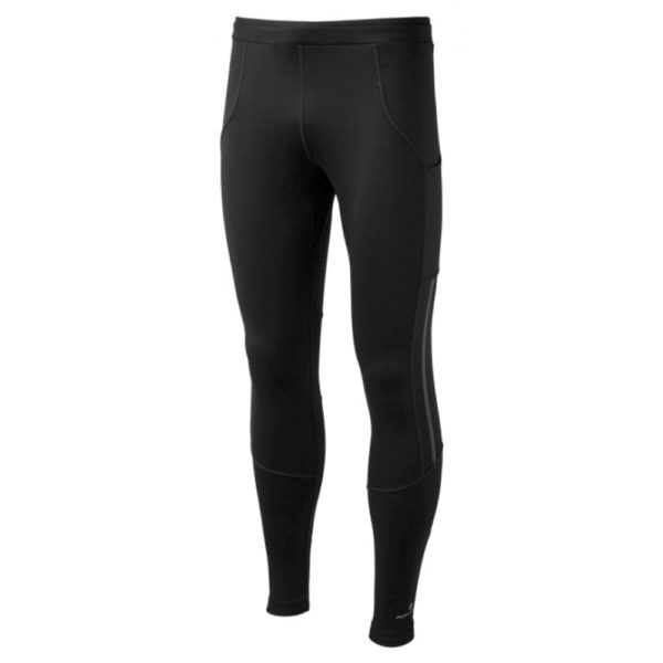 Ronhill Stride Stretch Men's Running Tight all black front