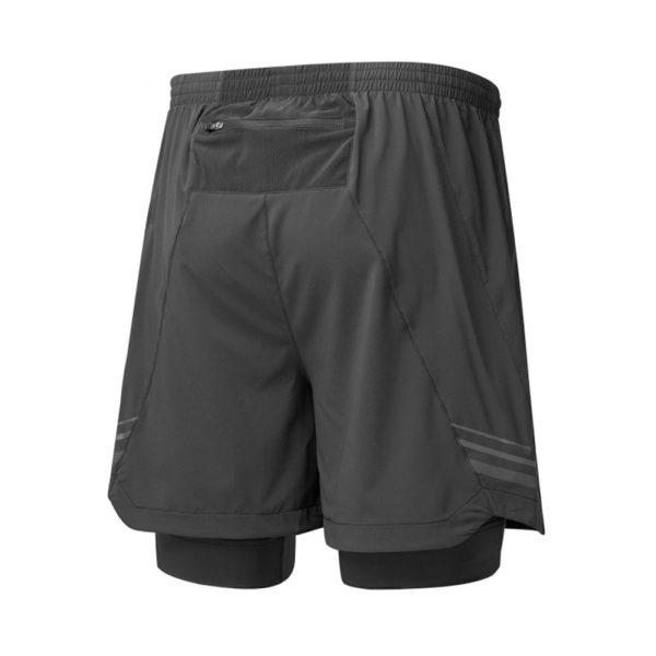 Ronhill Stride Twin Men's Running Short all black back