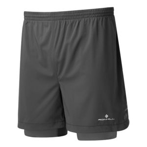 Ronhill Stride Twin Men's Running Short all black front