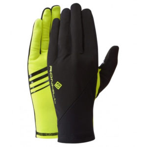 Ronhill Wind-Block Running Glove Black Fluo Yellow