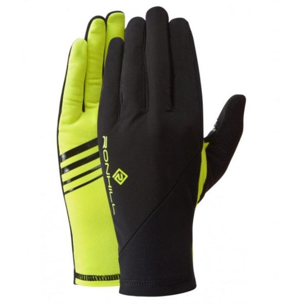 Ronhill Wind-Block Running Glove Black Fluo Yellow