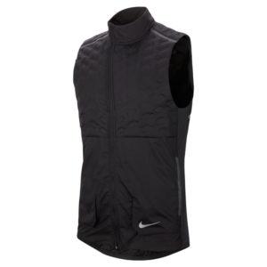 Nike Aeroloft Men's Running Vest black silver front