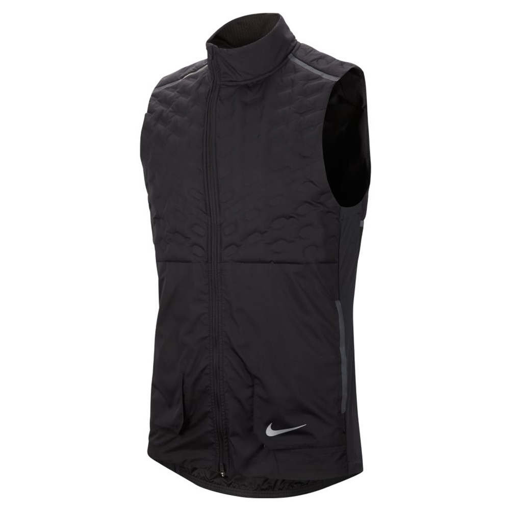 pasajero Desviar para jugar  Nike Aeroloft Men's Running Vest - Black/Reflective Silver | The Running  Outlet