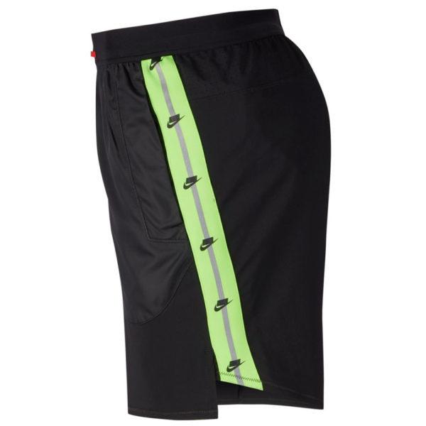 Nike Men's Running Short black reflective side