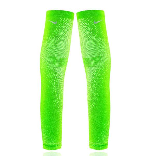 Nike Speed Breaking 2 Running Sleeves - Electric Green/Silver